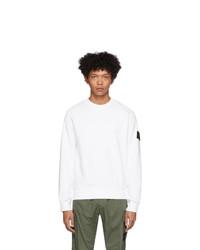 Stone Island White Gart Dyed Sweater