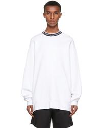 Acne Studios White Jacquard Logo Sweatshirt