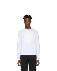 Moncler White Logo Patch Sweatshirt