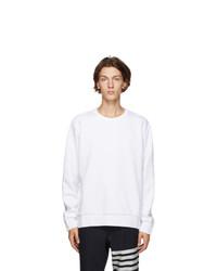 Thom Browne White Rwb Stripe Sweatshirt