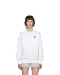 Nike White Sportswear Club Sweatshirt