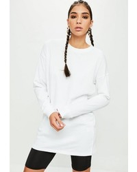 Missguided White Sweatshirt Dress