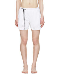 11 By Boris Bidjan Saberi White Nylon Swim Shorts