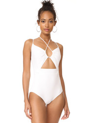Michael Kors Michl Kors Collection Halter One Piece Swimsuit