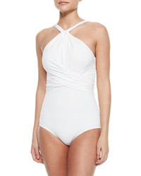 Michael Kors Michl Kors Twisted High Neck One Piece Swimsuit