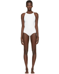 Acne Studios Off White Halla Open Back Swimsuit