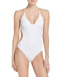 Vince Camuto Plunge One Piece Swimsuit