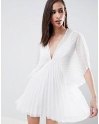 ASOS DESIGN Pleated Kimono Mini Dress