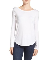 Paige Bess Stretch Jersey Boatneck Tee