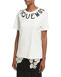 Moschino Boutique Short Sleeve Cotton Logo T Shirt