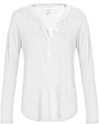 Velvet by Graham & Spencer Elvira Linen Blend T Shirt