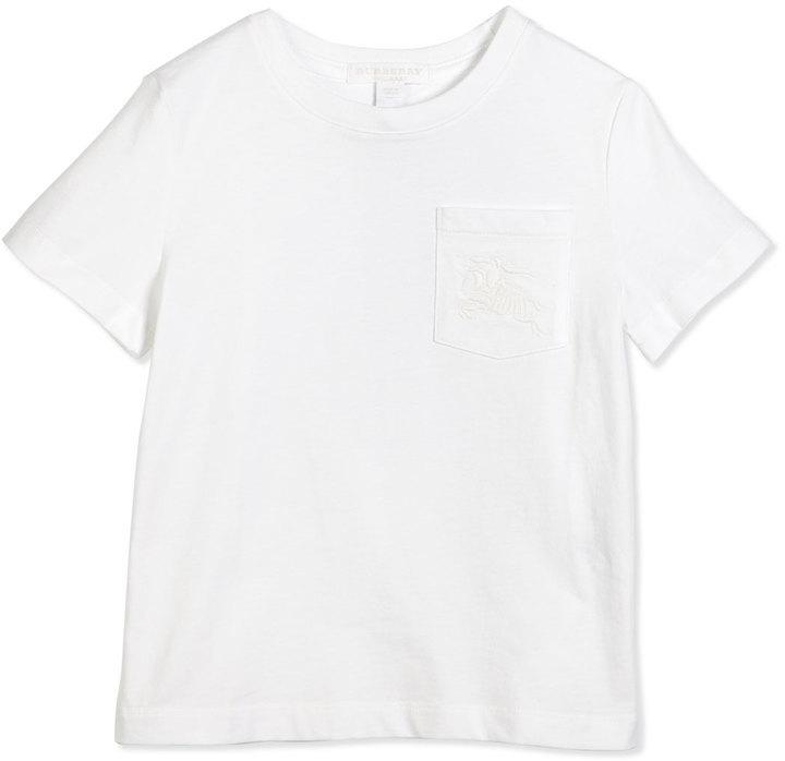 Burberry Ethen Short Sleeve Jersey Tee W Pocket White Size 4 14
