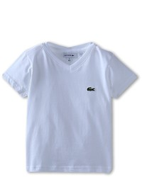 Lacoste Kids Ss Classic Jersey V Neck Tee Boys Short Sleeve Pullover