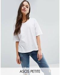 Asos Petite Petite T Shirt In Linen Mix Fabric