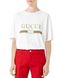 Gucci Print Cotton Tee White