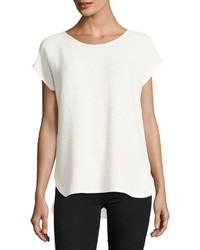 Max Studio Puckered Jersey Tee