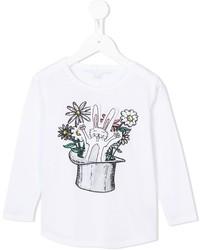 Stella McCartney Kids Barley Rabbit In A Hat T Shirt