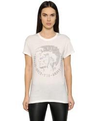 Diesel Studded Cotton Blend Jersey T Shirt