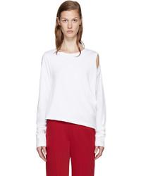 MM6 MAISON MARGIELA White Cut Out T Shirt