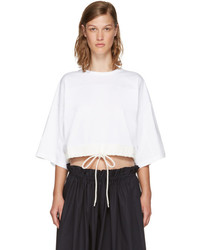Chloé White Drawstring Cropped T Shirt