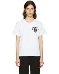 Emilio Pucci White Embroidered Logo T Shirt
