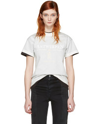 Vetements White Hanes Edition Fitted Double Antwerpen T Shirt