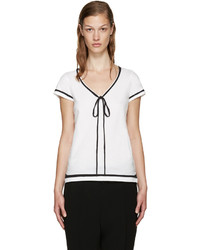 Marc Jacobs White Jersey Ties T Shirt