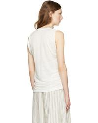 Isabel Marant White Linen Maik T Shirt