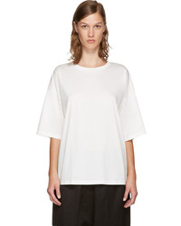 Jil Sander White Open Back T Shirt