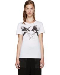 Alexander McQueen White Ravens T Shirt