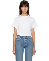 Balenciaga White Small Logo Baby T Shirt