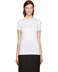 Jil Sander White Stretch Cotton T Shirt