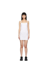 Gil Rodriguez White Lapointe Mini Tank Dress