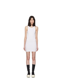 Rick Owens DRKSHDW White Rib Tank Short Dress