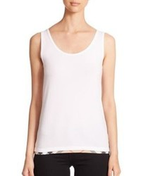 Burberry Brit Scoopneck Check Trim Tank