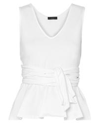 J.Crew Claire Tie Front Cotton Jersey Top
