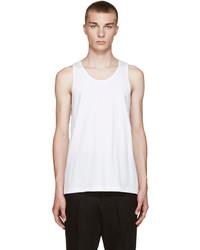 Comme des garons shirt white basic tank top medium 700739