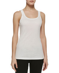 Splendid Fitted Knit Tank White