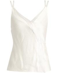 Roksanda Lymer Silk Satin Seersucker Cami Top