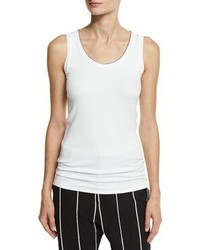 Brunello Cucinelli Monili Tipped Scoop Neck Tank Top