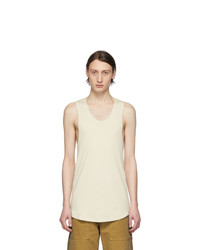 BILLY Off White Colton Undershirt Tank Top