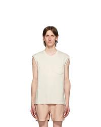 Second/Layer Off White Interlock T Shirt