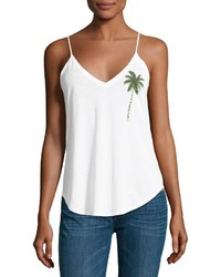 Chaser Palm Tree Jersey Tank White
