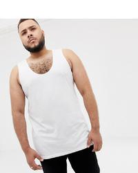 ASOS DESIGN Plus Organic Vest In White