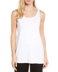 Eileen Fisher Scoop Neck Long Tank