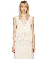 See by Chloe See By Chlo White V Neck Tank Top