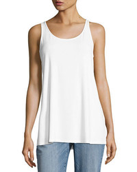 Eileen Fisher Sleeveless Scoop Neck Lightweight Jersey Tank Petite