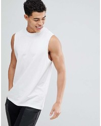 New Look Sleeveless T Shirt In White