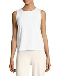 Eileen Fisher Solid Cotton Tank Top