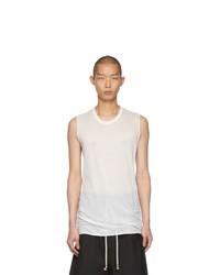 Rick Owens White Basic Sleeveless T Shirt